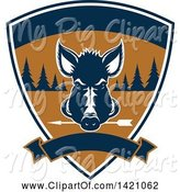 Swine Clipart of Wild Boar Hunting Design by Vector Tradition SM